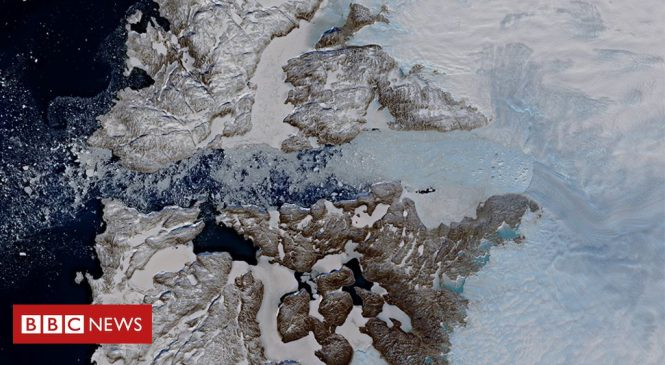 Jakobshavn Isbrae: Mighty Greenland glacier slams on brakes