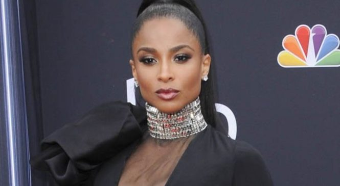 Ciara flashes cleavage in mesh-merising dress as she spills from all angles at the BBMAs