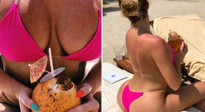 Aisleyne Horgan Wallace risks intimate overshare with racy bikini snap