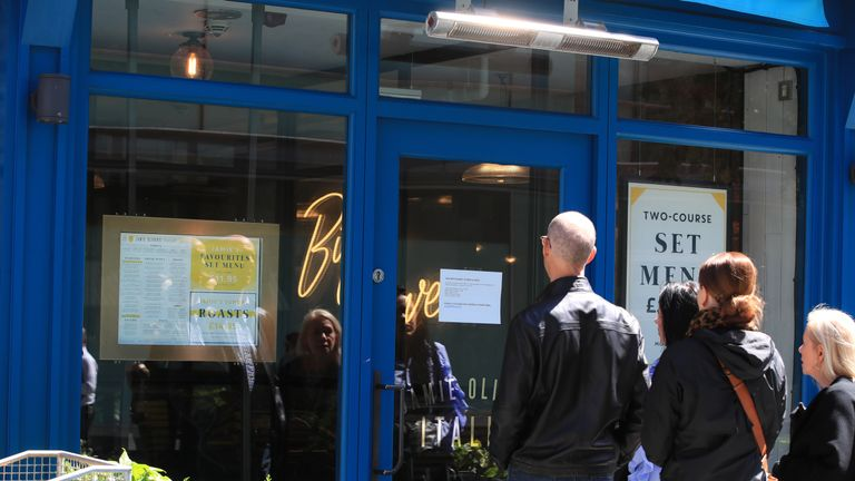 A sign in the window of a Jamie's Italian in Paradise Street, Liverpool, as the restaurant chain founded and majority-owned by celebrity chef Jamie Oliver, has appointed administrators, putting as many as 1,300 jobs at risk.