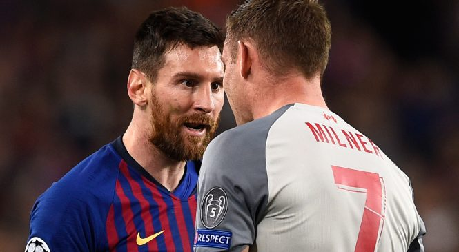 Liverpool midfielder James Milner reveals Lionel Messi called him a 'donkey' during first-leg of Barcelona tie