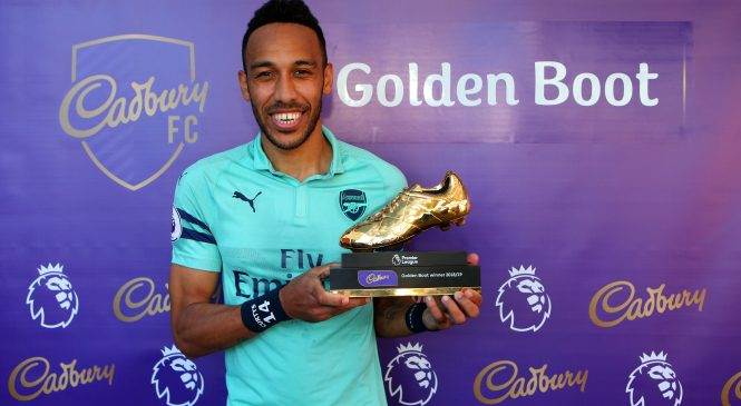 Pierre-Emerick Aubameyang insists Golden Boot race is 'victory for Africa' as Arsenal striker ends level with Liverpool stars Sadio Mane and Mohamed Salah