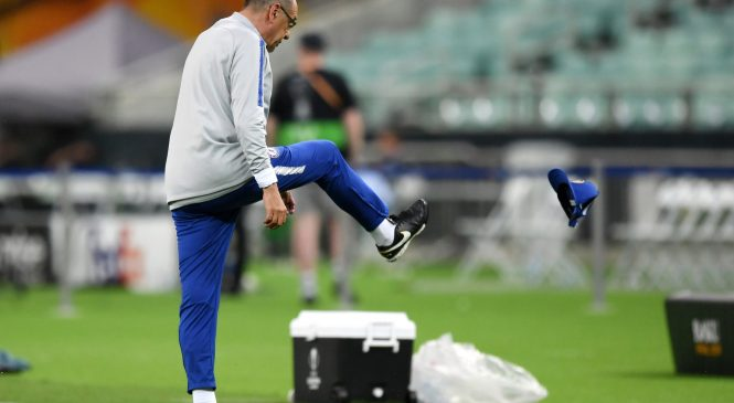 Maurizio Sarri stormed out of Chelsea training session because he was not allowed to practice set pieces in private