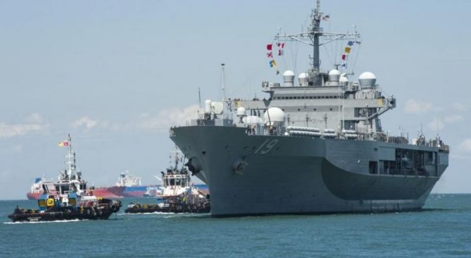 USS Blue Ridge returns to Singapore as part of Asian deployment