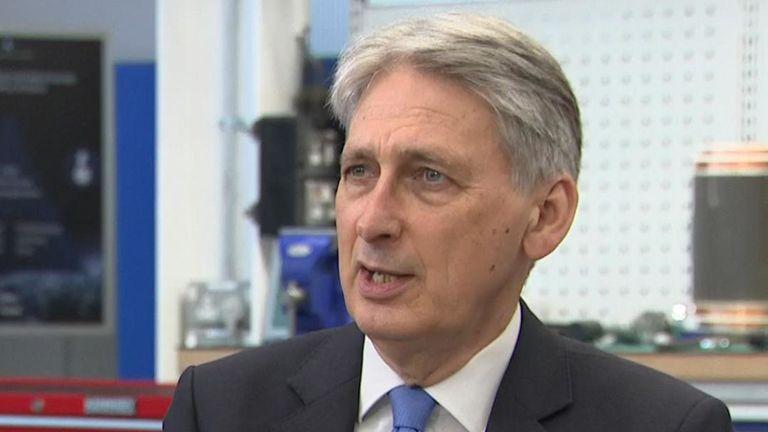 Philip Hammond 'optimistic' that US-China trade war will not escalate