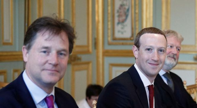 Macron greets Zuckerberg with Facebook threat