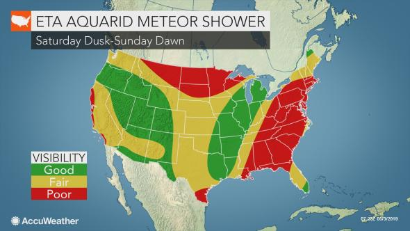 Meteor shower to peak Saturday as Earth collides with Halley's Comet debris