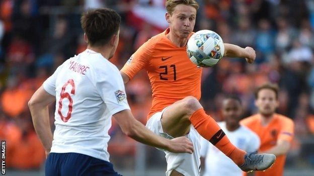 Dutch midfielder Frenkie de Jong