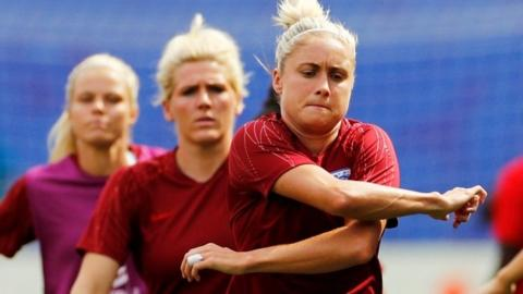 Mille Bright and Steph Houghton