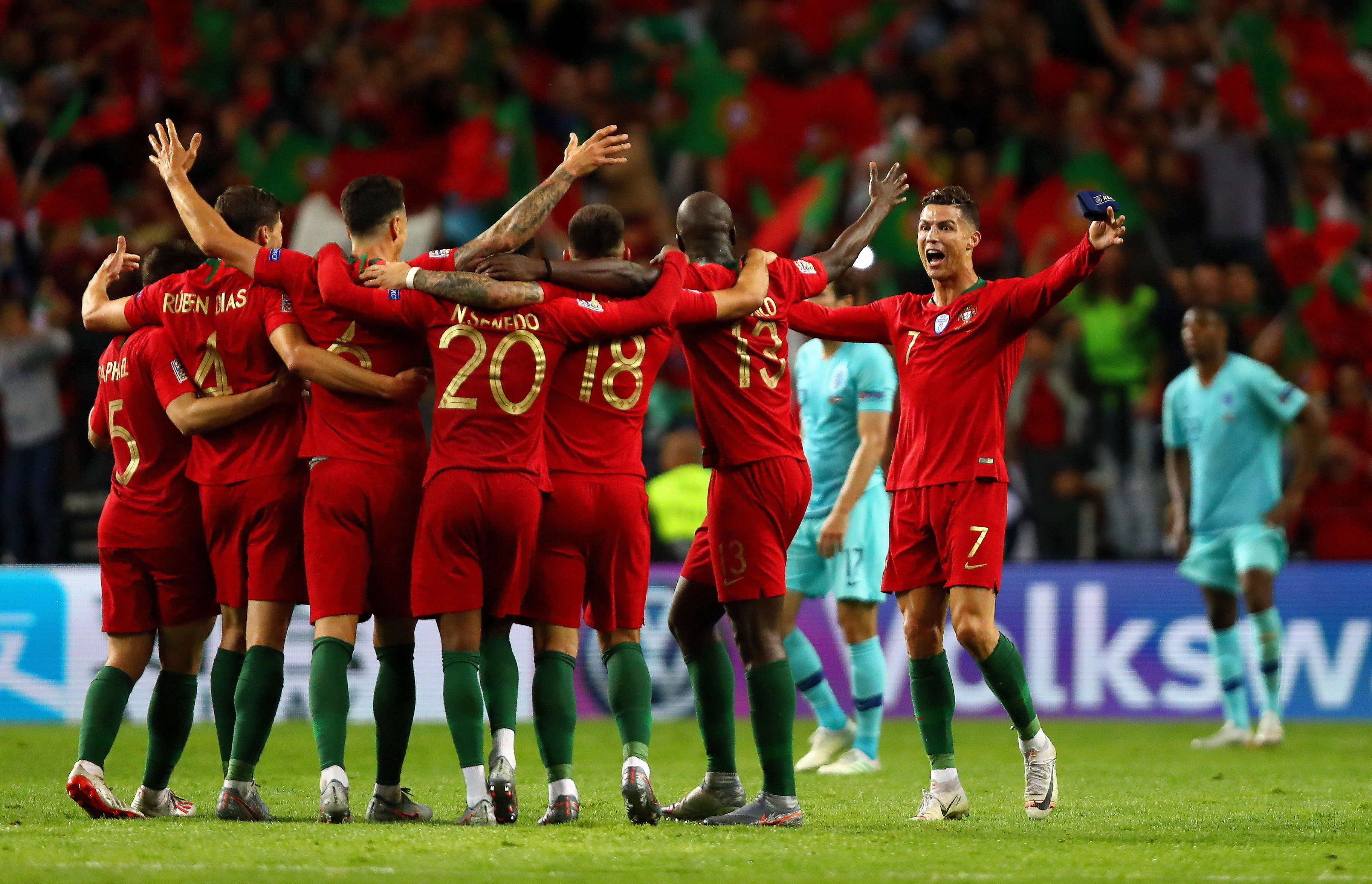 Portugal celebrated wildly in front of their home supporters