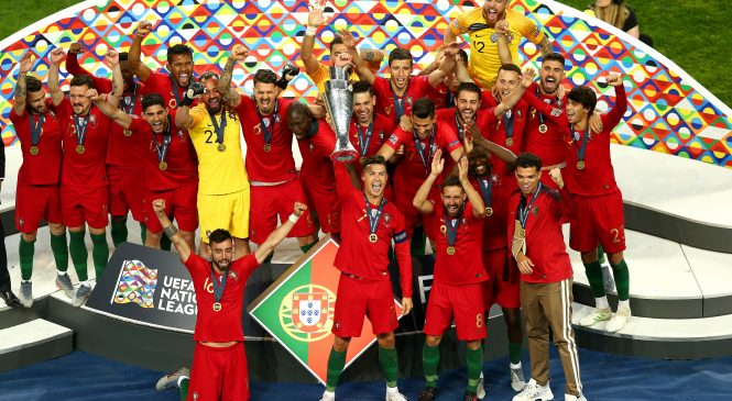 Portugal 1-0 Netherlands: Goncalo Guedes strikes to win inaugural UEFA Nations League for Cristiano Ronaldo's side