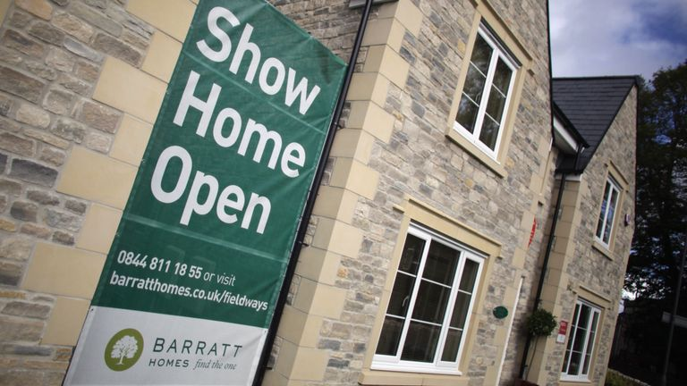 Barratt's shares trade on the FTSE 100