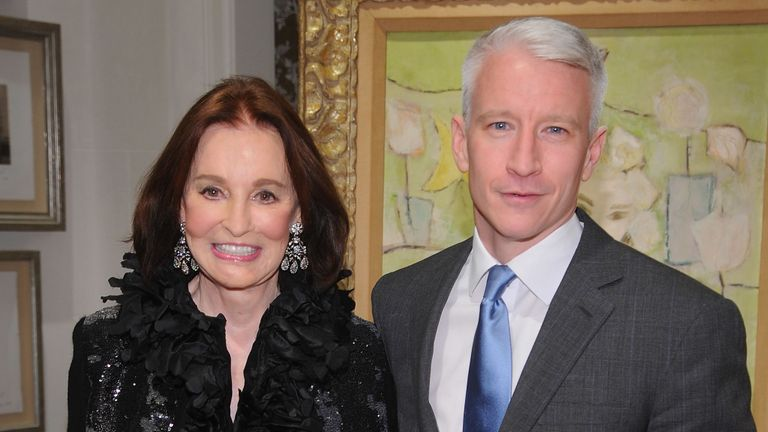 Gloria Vanderbilt with son Anderson Cooper