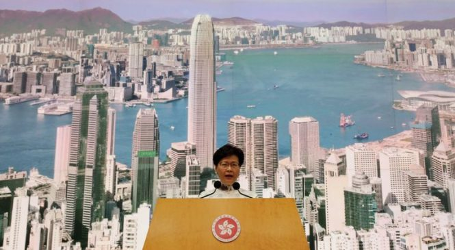 Hong Kong suspends extradition law after protests