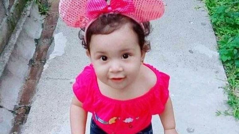 Valeria died at just 23 months old. Pic: Family handout