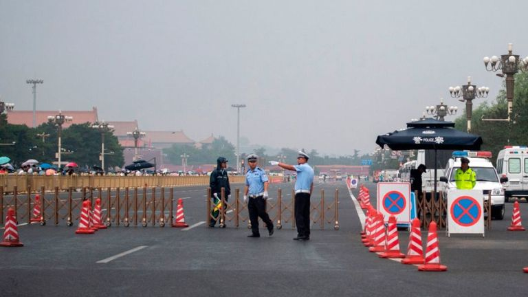 Security has been tightened around Tiananmen Square on the 30th anniversary