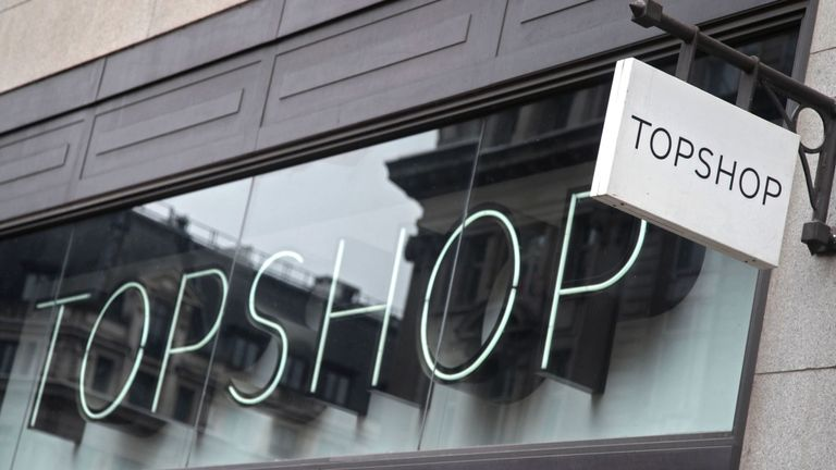 A branch of Topshop on Oxford Street, central London.