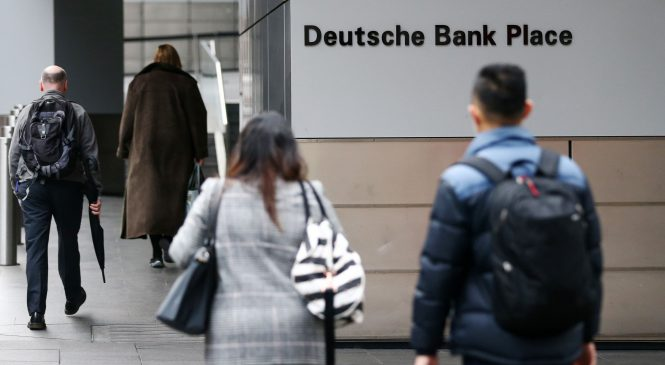 Deutsche Bank shares turn negative as lender gets ready for major overhaul
