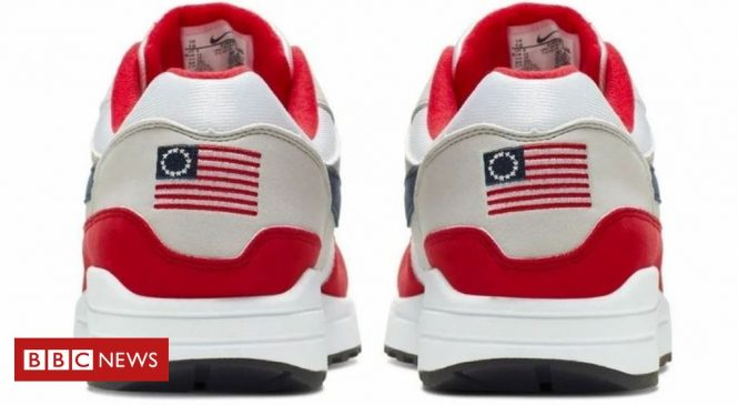 Nike hit by conservative backlash over 'racist trainer'