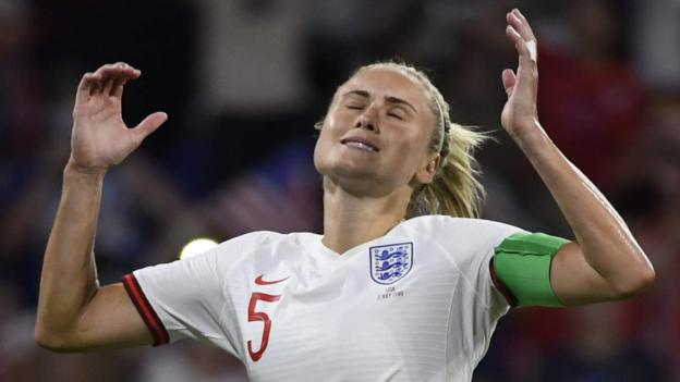 England 1-2 USA: Lionesses beaten in Women's World Cup semi-final