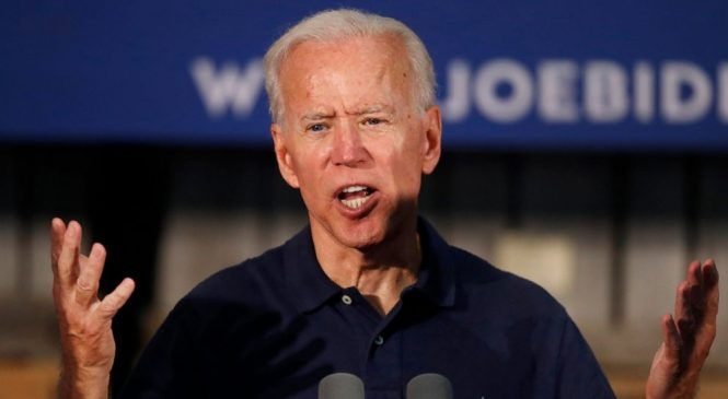Biden campaigns as Obamacare's top defender