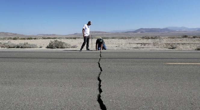 Crews rush to fix roads, utilities after California quakes