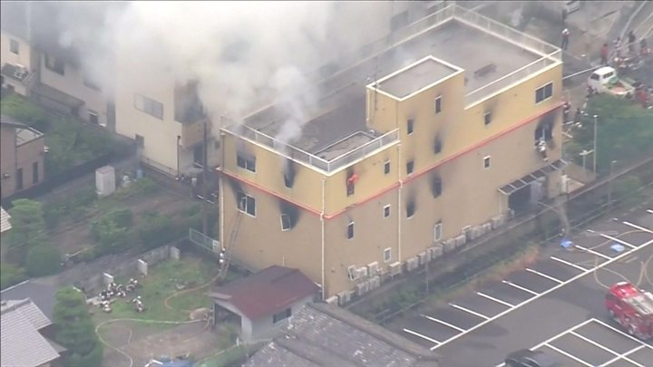 Kyoto Animation fire: At least 23 dead after suspected arson attack