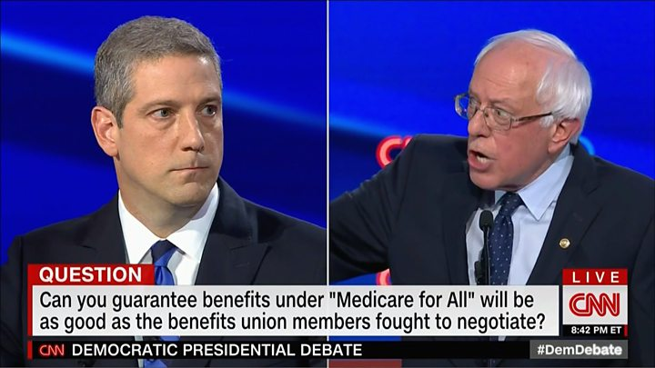 Democratic debates: Ten candidates clash over healthcare and immigration