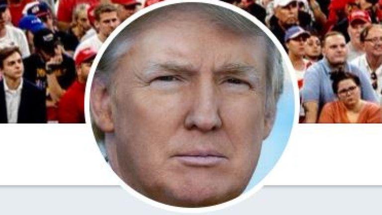 Mr Trump has more than60 million Twitter followers