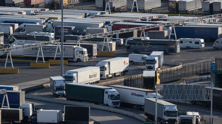 Hauliers with the correct paperwork will be given a permit to proceed towards Dover