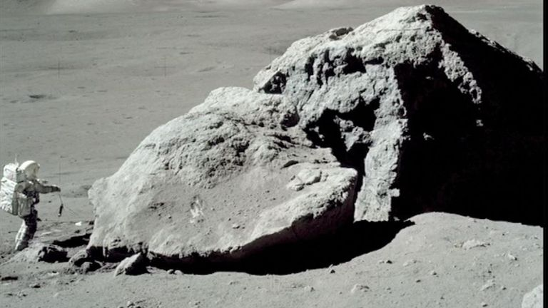 Photographs were taken on the moon during the Apollo 17 mission