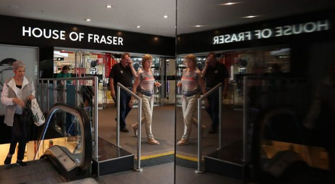 Sports Direct shares slip as House of Fraser weighs on results