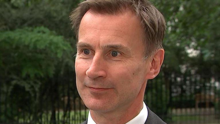 Hunt challenges Boris to 'turn up' on TV