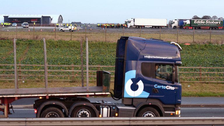 Around 10,000 lorries pass through Dover every day