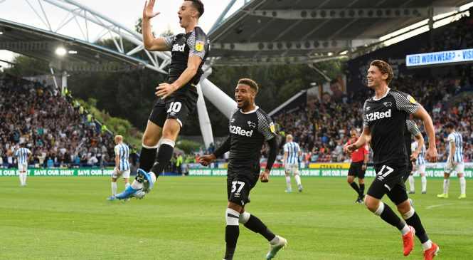 Huddersfield 1-2 Derby County: Tom Lawrence scores a brilliant brace as Phillip Cocu starts Rams reign with hard-fought victory