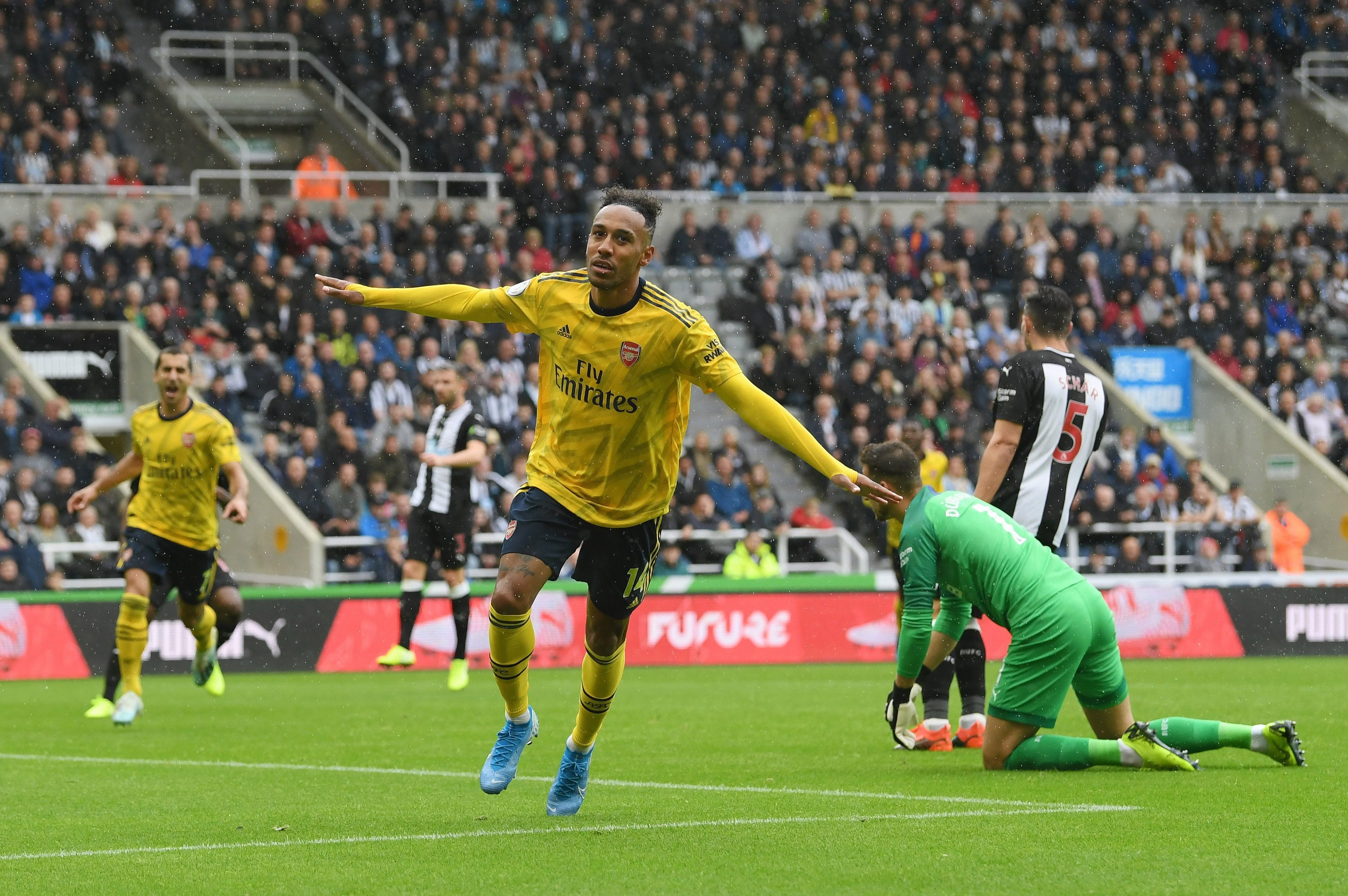 Pierre-Emerick Aubameyang scored the winning goal for Arsenal at Newcastle last weekend