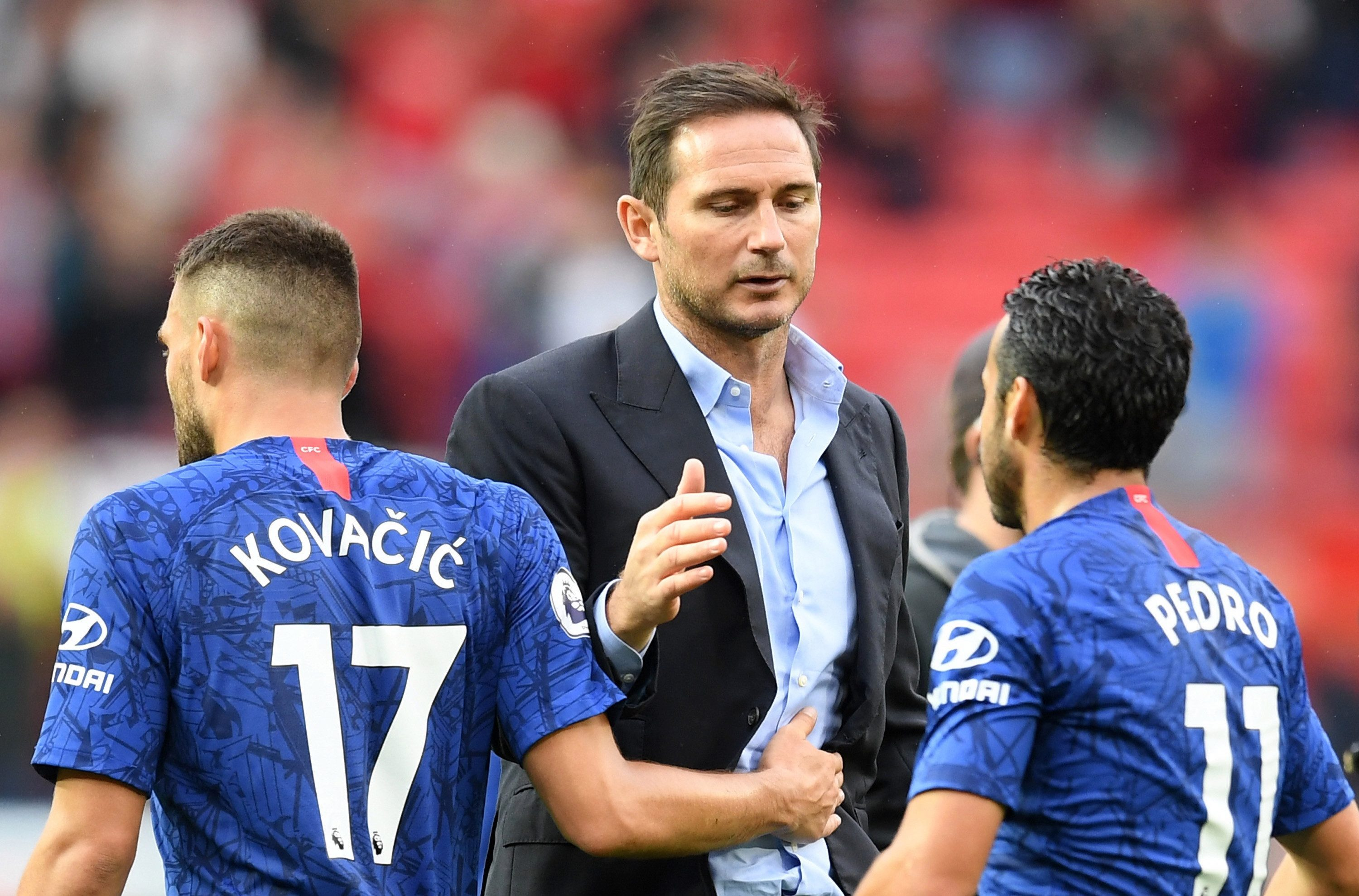 Chelsea are managed by Mourinho's former player Lampard