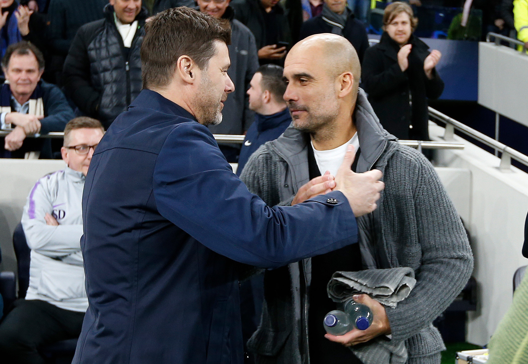 Mauricio Pochettino and Pep Guardiola will go head-to-head at the Etihad today