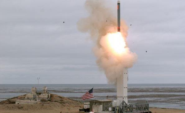 U.S. military tests ground-based cruise missile