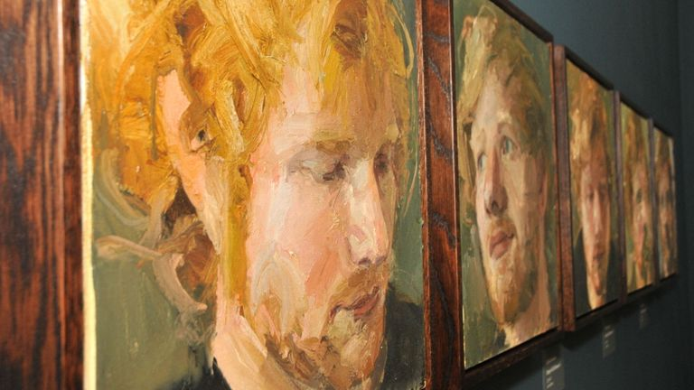 Dad's Ed Sheeran exhibition shows rise from busker to global star