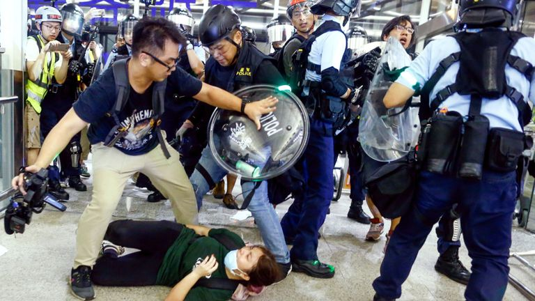 Police were unable to take control of the airport from protesters