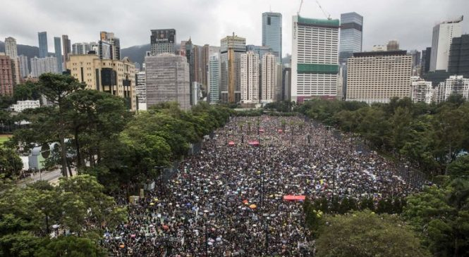 Protesters gather in Hong Kong for anti-government rally