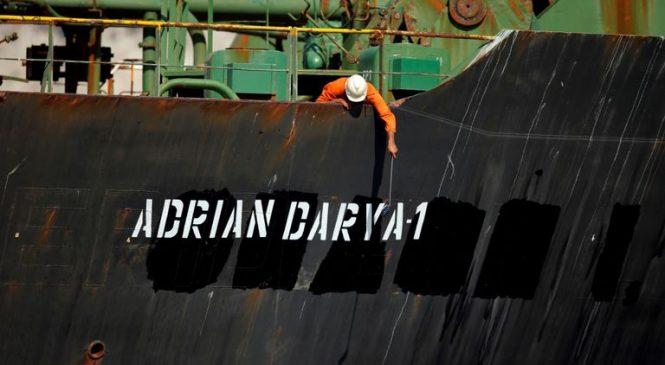 Oil tanker at centre of US power struggle departs Gibraltar