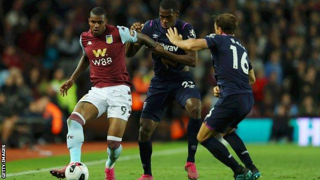 Aston Villa 0-0 West Ham: Arthur Masuaku sent off as visitors earn point