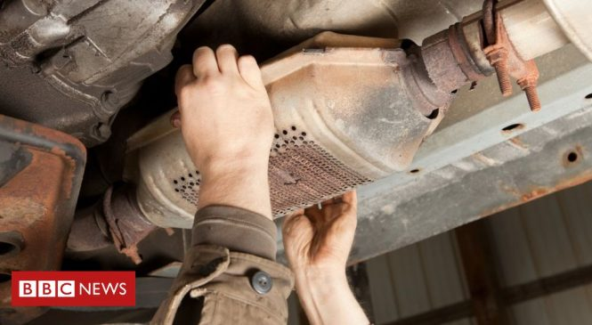 Huge rise in catalytic converter thefts