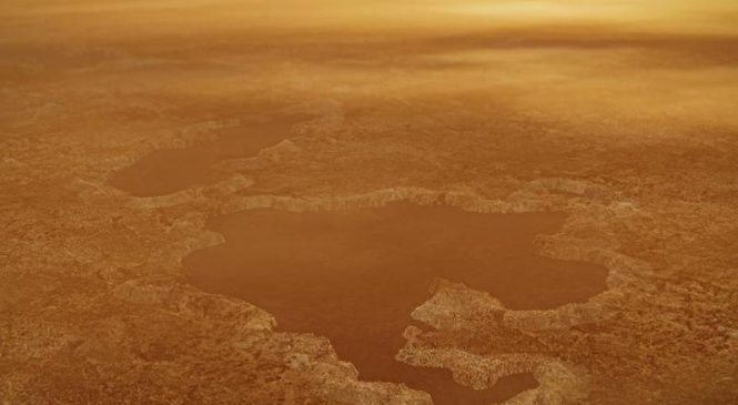 The methane-filled lakes on Saturn's moon Titan are explosion craters, model predicts