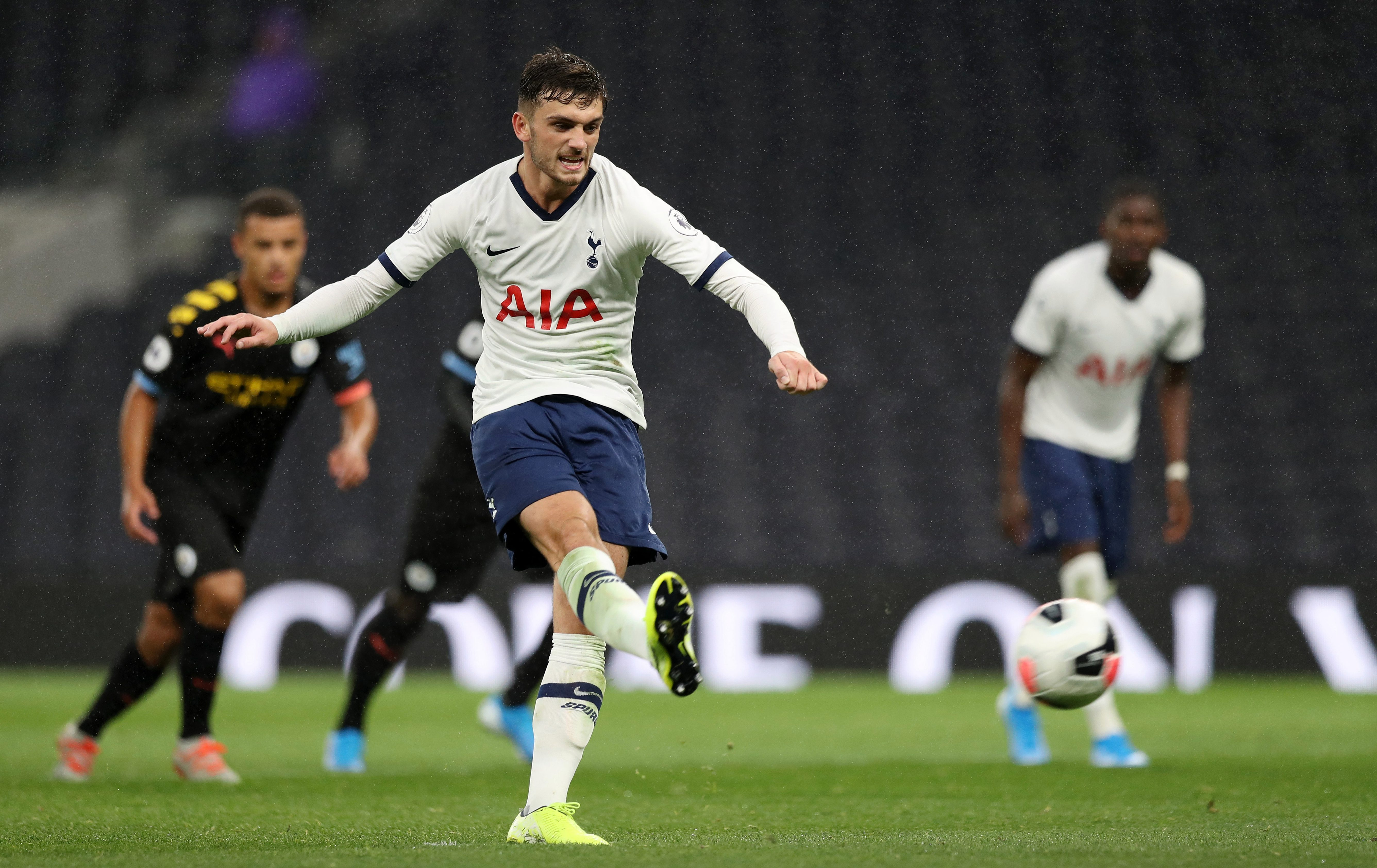 Parrott plays for Tottenham's youth team in the Premier League 2