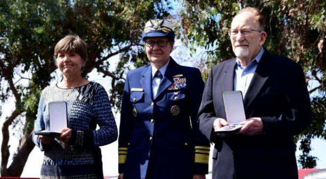 Purple Heart medals awarded to World War I Coast Guardsmen