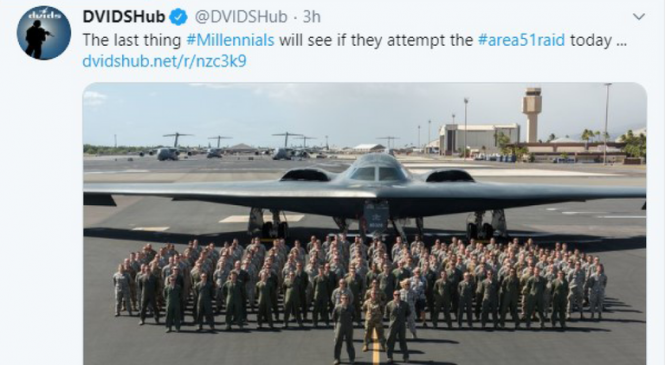 US military sorry over 'threat to use bomber on millennials' at Area 51