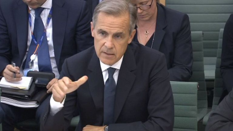Mark Carney told MPs Brexit preparations would be more advanced given more time